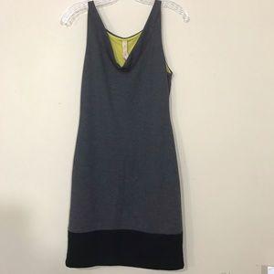 Bailey 44 Dress Sleeveless Gray Mini Small